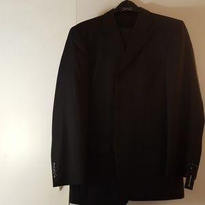 Jones New York black pin stripe suit